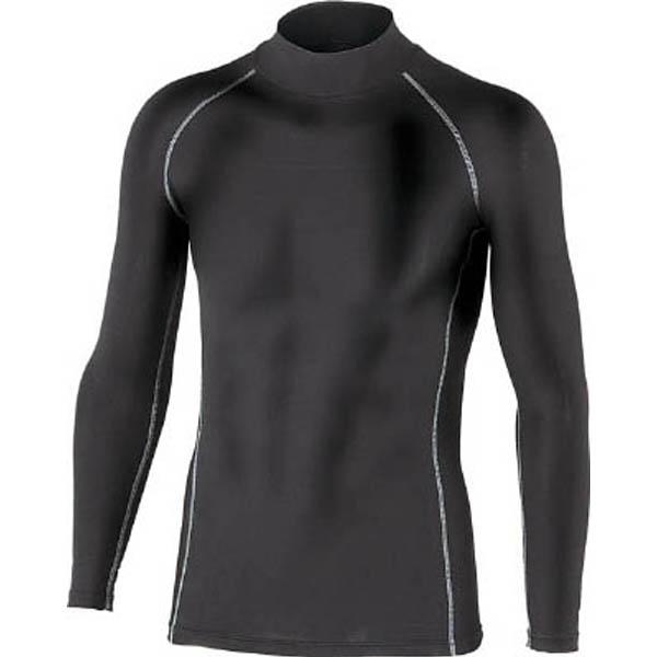 【CAINZ DASH】おたふく BTパワーストレッチハイネックシャツ ブラック LL