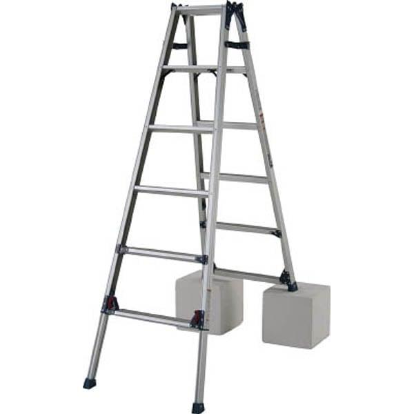 PiCa Corp(ピカコーポレイション) アルミ合金 はしご兼用脚立スタンダード 125cm SCL-120A 1台 (直送品)