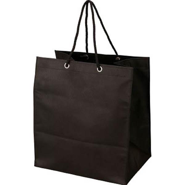 【CAINZ DASH】TRUSCO 不織布バッグ 黒 315×355×275MM (10枚入)