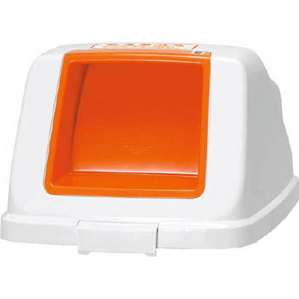 【CAINZ DASH】アロン 分別ペールCF90 プッシュフタ もえる オレンジ