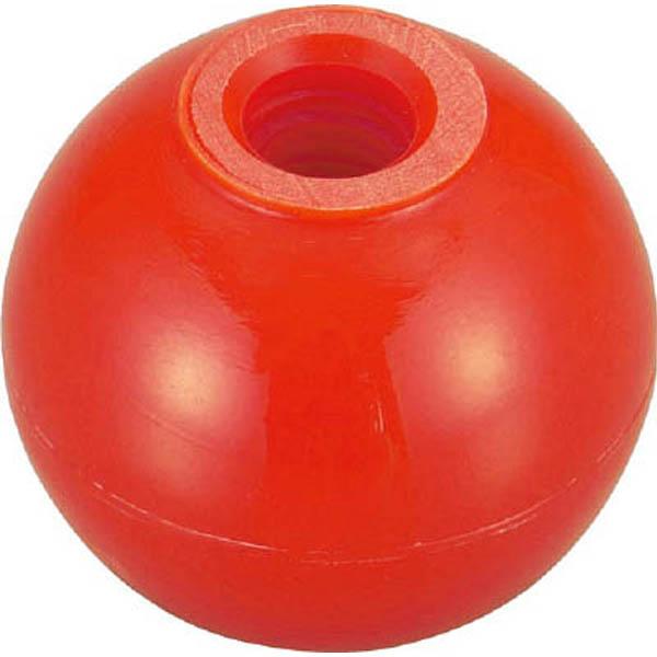 【CAINZ DASH】TRUSCO 樹脂製握り玉 金具なし赤 20XM5mm (20個入)