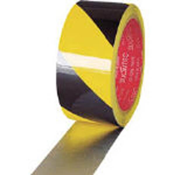 【CAINZ DASH】スリオン 危険表示用反射テープ 45mm×10m黄/黒
