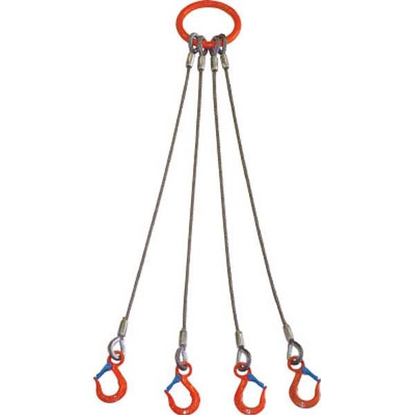 【CAINZ DASH】大洋 4本吊 ワイヤスリング 1.6t用×1.5m