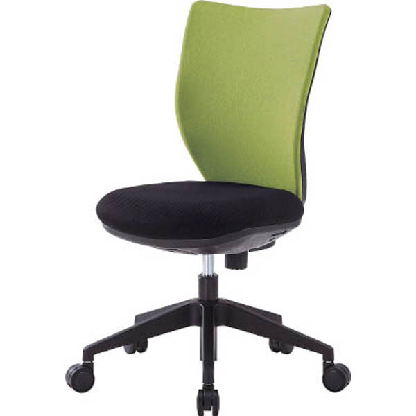 【CAINZ DASH】アイリスチトセ 回転椅子3DA ライムグリーン 肘なし
