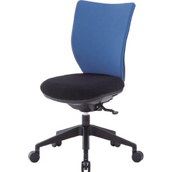 【CAINZ DASH】アイリスチトセ 回転椅子3DA ブルー 肘なし シンクロロッキング