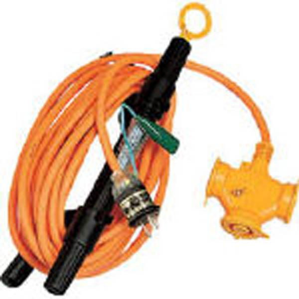 防雨型2P・2P接地付兼用とび延長コード 10m WX-103K 1本 106-1437