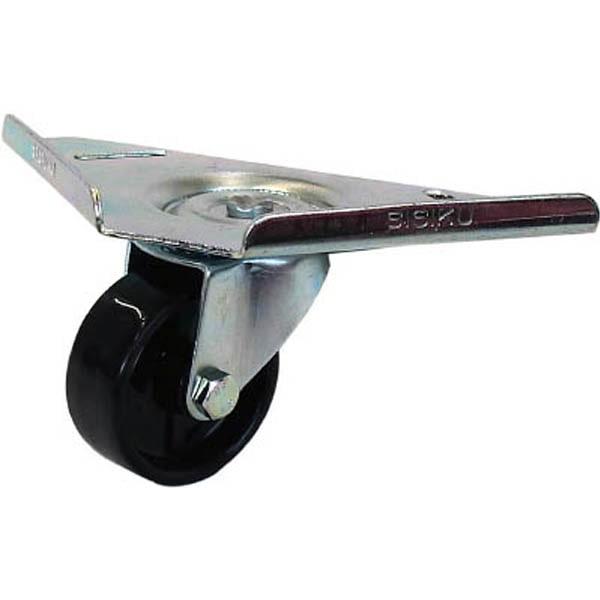 【CAINZ DASH】シシク コーナーキャスター ナイロン車輪 50径 ユニクロメッキ