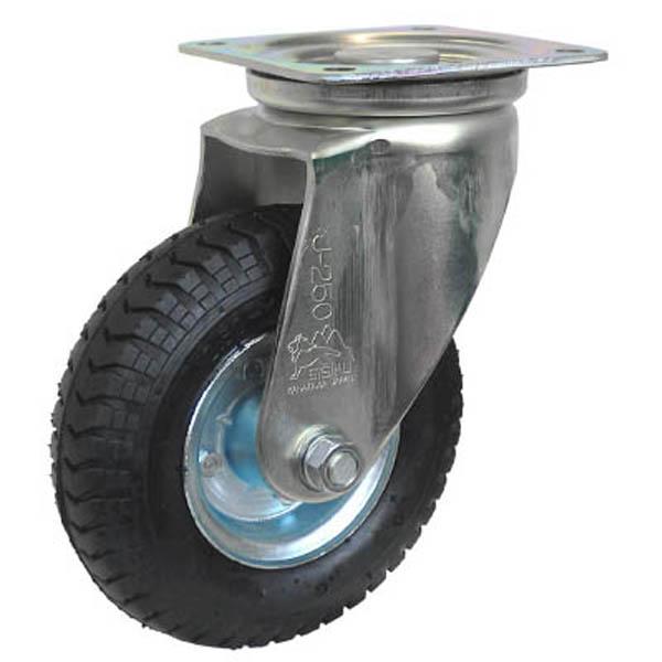 【CAINZ DASH】シシク 空気入車輪付キャスター 自在 220mm