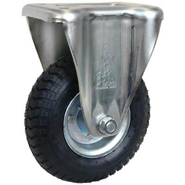 【CAINZ DASH】シシク 空気入車輪付キャスター 固定 220mm