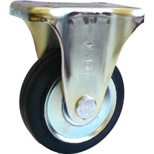 【CAINZ DASH】シシク スタンダードプレスキャスター ゴム車輪 固定 130径