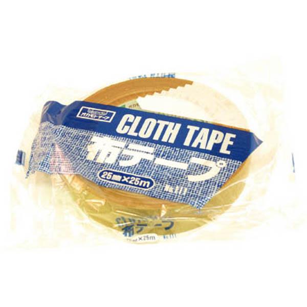 オカモト 布テープ No.111 0.30mm厚 幅25mm×長さ25m巻 クリーム 1巻