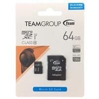 【数量限定】TEAM microSD 64GB アダプタ付