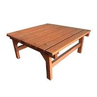 簡単に組立できる木製デッキ 90x90x40CM