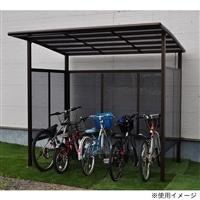自転車置き場 DIYポート�VDX ワイド 5台用 プレミアムブロンズ【別送品】