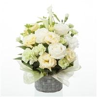 お祝い用白グリーンアレンジ3980【別送品】【要注文コメント】