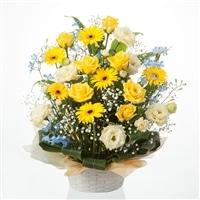 お祝い用フラワーアレンジ/イエロー NO.4【別送品】【要注文コメント】