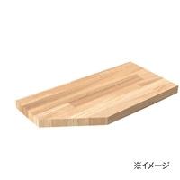 岡元木材 木材カット 斜めカット:角(1カット)【要注文コメント】【別送品】