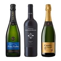 <30%OFF>エアライン採用ワイン 3本セット(シャンパン入り)【別送品】