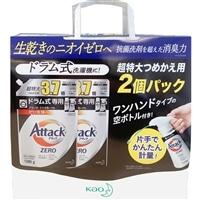 【数量限定】花王 アタックZERO ドラム式専用 詰替 1280g×2個+空ハンドボトル