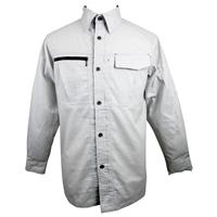 【訳あり商品】 【数量限定】スピードドライ ワークシャツ 長袖 グレー LL (汚れ有)