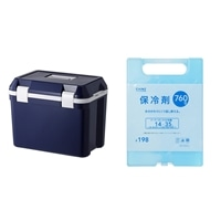 【セット商品】クーラーボックス25L 4536NV & 保冷剤 760g