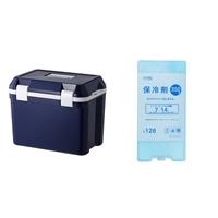 【セット商品】クーラーボックス14L 3627NV & 保冷剤 350g