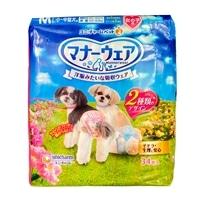 【訳あり商品】マナーウェア 女の子用 Mサイズ 小〜中型犬用 34枚入り【旧パッケージの為】