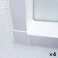 【ケース販売】コーナーカバー100(オフホワイト)×4個[4932937603251×4]【別送品】