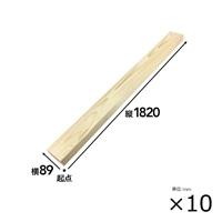 【SU】【ケース販売】SPF材 2×4 6F[4528182100081×10]【別送品】