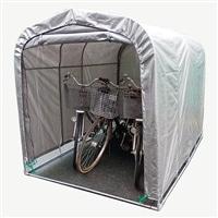 【訳あり商品】 自転車置き場 サイクルハウス シンプルタイプ SVU 3台用 (未使用・開封済)