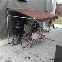 【訳あり商品】自転車置き場 雨よけ サイクルポート 3台用 ブラウン(箱破損)