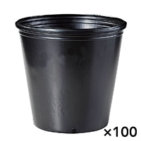 【ケース販売】ポリ鉢 24cm黒丸 1P×100枚[4527780791455×100]