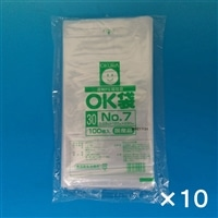 【ケース販売】OKポリ袋 ��7 120x230�o 100P×10個[4905206410430×10]
