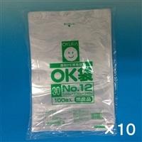 【ケース販売】OKポリ袋 ��12 230x340�o 100P×10個[4905206410263×10]