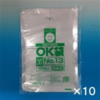 【ケース販売】OKポリ袋 ��13 260x380�o 100P×10個[4905206410270×10]