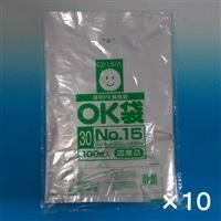 【ケース販売】OKポリ袋 ��15 300x450�o 100P×10個[4905206410294×10]