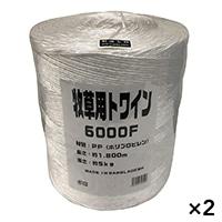 【ケース販売】牧草用トワイン PP6000F×2個[4930502308006×2]