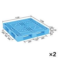 【ケース販売】パレットD4−1111−2N×2枚[4983049542259×2]【別送品】