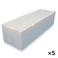 【ケース販売】発泡ケース鮮魚用白 TIS−880�T蓋付×5個[4546516003488×5]