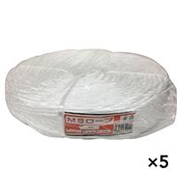 【ケース販売】MSロープ 白色 約6mm x 200m×5個[4930502322040×5]