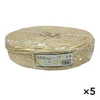 【ケース販売】MSロープ わら色 約6mm x 200m×5個[4930502321135×5]