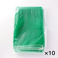 【ケース販売】野菜ネット 緑 15K 10P×10個[4560139592723×10]