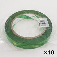 【ケース販売】たばねらテープ くだもの 緑 20mm×100m[4987167052867×10]
