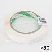 【ケース販売】たばねらテープ 無地 白 20mm×100m[4987167053017×80]