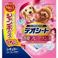 【セット商品】Pet'sOne ウェットティッシュ 3個パック + デオシートフローラルシャボンレギュラー128枚(1枚あたり 約13.8円)