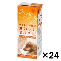 【ケース販売】おいしいミルク フルーツミックス風味 200ml×24本入り[4571490281034×24]