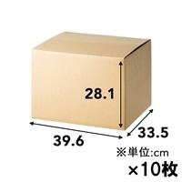 【10枚セット】120サイズ 段ボール箱 NO.6 (396×335×281mm)×10枚[4936695212878×10]