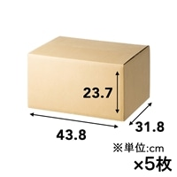 【5枚セット】100サイズ 高さ調節できる段ボール M×5枚[4549509155195×5]