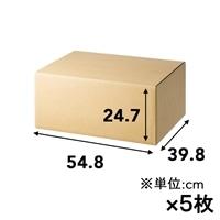 【5枚セット】120サイズ 高さ調節できる段ボール L×5枚[4549509155201×5]