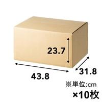 【10枚セット】100サイズ 高さ調節できる段ボール M×10枚[4549509155195×10]